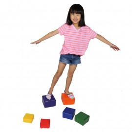 Balance blocks enhance gross motor and visual processing skills