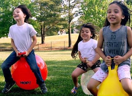 Improvement of Motor skills plus fun=Gymnic hop balls
