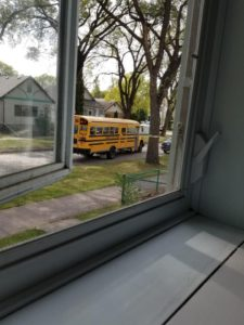 The school bus is here!