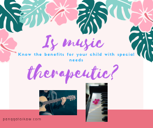 Music therapy helps the special child focus and engage.