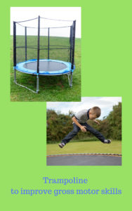 Trampoline for gross motor skills