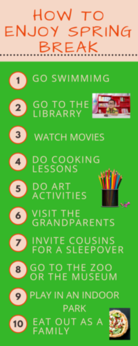 How To Enjoy Spring Break… Ten Activities Which Will Get Everyone Excited!