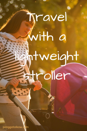 How to travel with a lightweight stroller