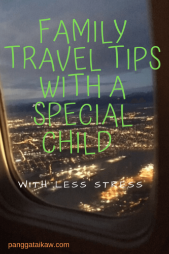 How to travel with family including your special child