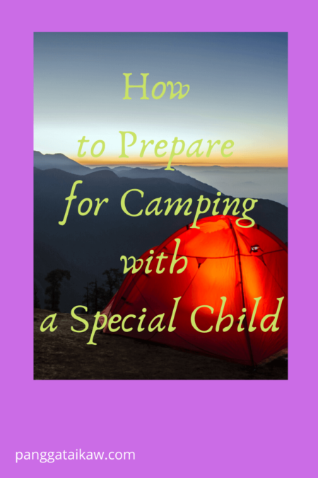 How to prepare for camping with a special child