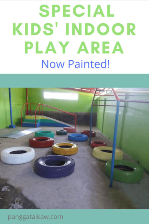 Our Special Kids' Indoor Play Area is now Painted!