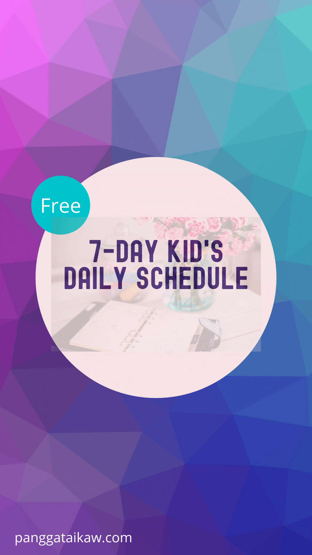 Free resources, kid's 7-day schedule