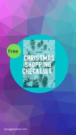 Free Christmas Shopping Checklist,Pangga ta Ikaw free resource
