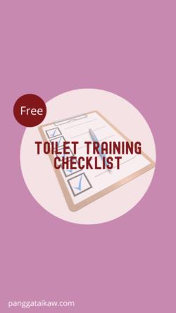 Free Toilet training checklist, Pangga ta Ikaw free resource